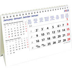 Calendrier de bureau chevalet International