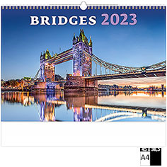 Calendrier publicitaire illustré Bridges