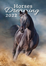 Calendrier mural 2021 Horses Dreaming 13p 31x52cm Page de garde