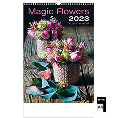 Calendrier publicitaire illustré Magic Flowers