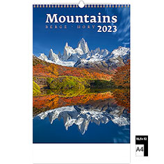 Calendrier publicitaire illustré Mountains