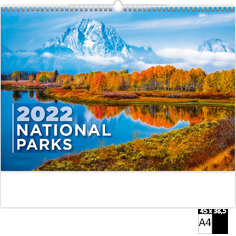 Calendrier publicitaire illustré National Parks