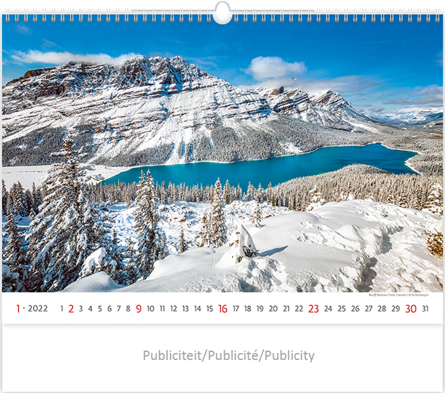 Calendrier mural 2021 National Parks 13p 45x38cm