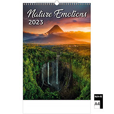 Calendrier publicitaire illustré Nature Emotions