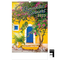 Calendrier publicitaire illustré Romantic Corners