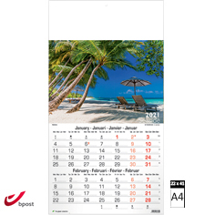 Calendrier mural 2021 Seaside 6 pages