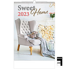 Calendrier publicitaire illustré Sweet Home