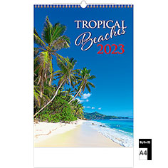 Calendrier publicitaire illustré Tropical Beaches