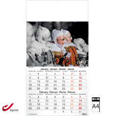 Calendrier mural 2021 Typics 6 pages