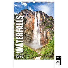 Calendrier publicitaire illustré Waterfalls
