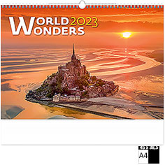 Calendrier publicitaire illustré World Wonders